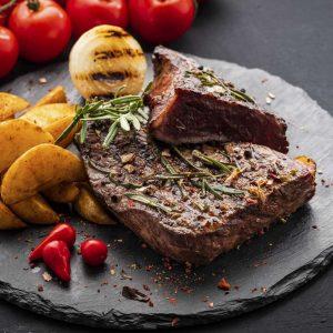 Filet Steak mit Beilagen